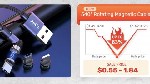 Бренд TOPK: Внешние аккумуляторы, кабели, наушники со скидками до 72% и купон на 160руб.