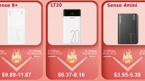 Быстрые зарядные устройства Power Bank со скидками 40% и купоны на 800руб. на АлиЭкспресс